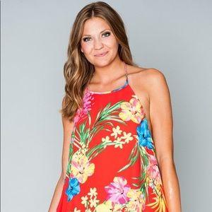Show Me Your MuMu Halter Dress in Tropical Mango